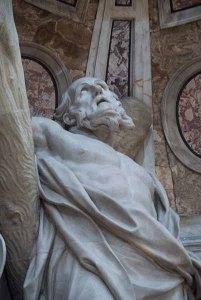 Statue representing St. Peter